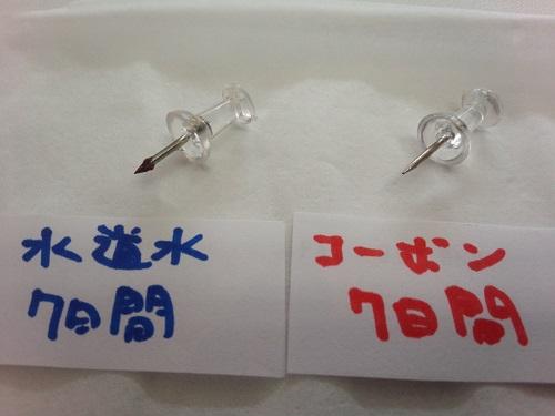 巡心堂漢方薬局(大阪府八尾市)で販売中のコーボンマーベルの実験写真です。