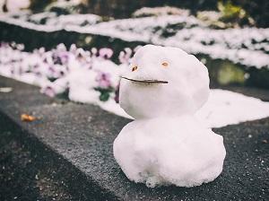 寒そうな雪だるま