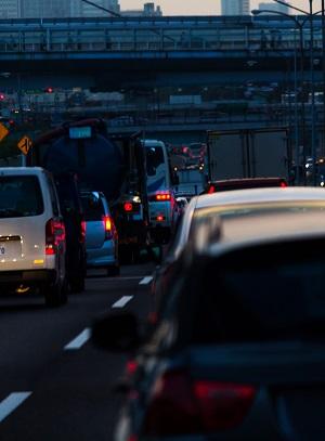ストレスの多い渋滞画像